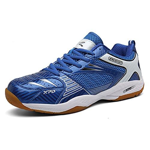 FJJLOVE Scarpe da Badminton, Scarpa da Tennis da Tavolo Traspirante Scarpa Leggera Antiscivolo Palestra Sportiva Sportiva Sportiva,Blu,44