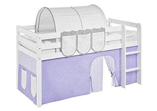 Vorhang Lila Beige - für Hochbett, Spielbett und Etagenbett