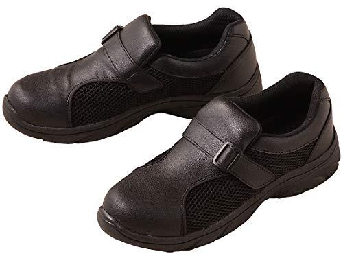 [富士ゴム] ナースシューズ 靴 F-841 プレーンメッシュ(耐油底) ブラック 25.5cm