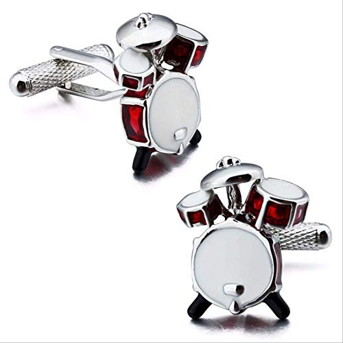 XKSWZD Manschettenknöpfe 1 para Plain Metal Men Fashion Shirt Zubehör Shaped Trumpet Manschettenknöpfe Schmuck Posaune Manschette Fasten Button Drum Manschettenknöpfe