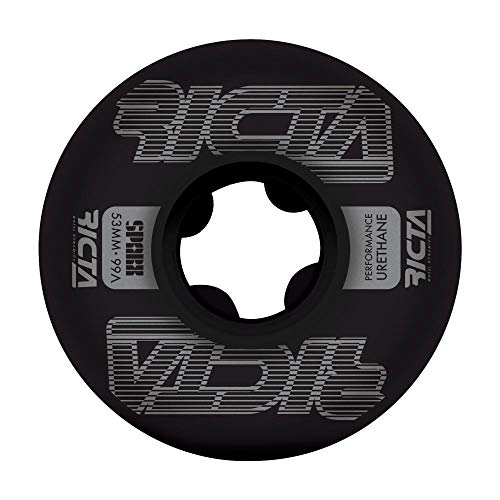 Ricta Wheels Framework Sparx - Ruote per skateboard 99a, 53 mm, colore: Nero