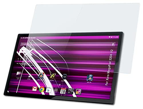 atFolix Glasfolie kompatibel mit Xoro MegaPad 3204 V2 Panzerfolie, 9H Hybrid-Glass FX Schutzpanzer Folie