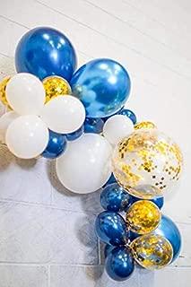 Balloon Garland Kit Navy Chrome Blue Gold Confetti White Balloons Baby Shower Bridal Shower Birthday Party Decoration
