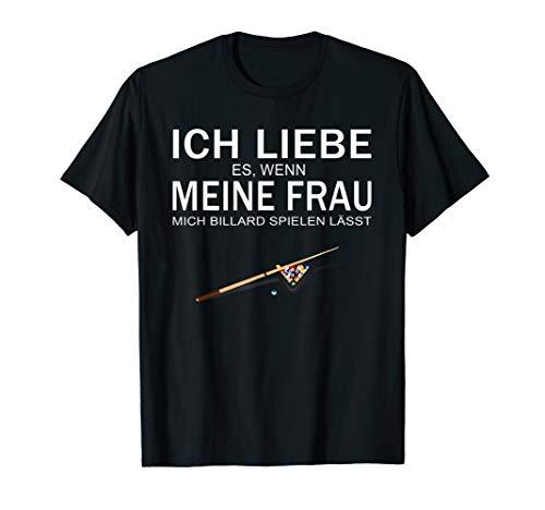 Herren Ich liebe meine Frau Billard lustiges T-Shirt Geschenk