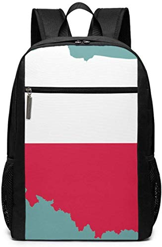 Lawenp 2018 Poland Flag and Map Unisex Backpacks 17 Inch School Bookbag Shoulder Bag Casual Daypack Laptop Bag 2018 Poland Flag and Map