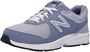 New Balance Women's 411 V2 Lace-Up Walking Shoe, Grey, 5 N US