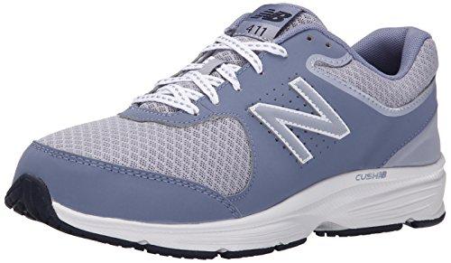 New Balance Women's 411 V2 Lace-Up Walking Shoe, Grey, 10.5 N US