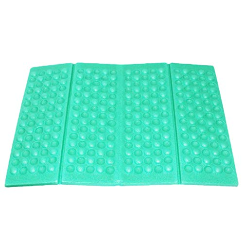 Fine Portable Lightweight Mini Waterproof Folding Mat, Foam Sitting Pad for Outdoor Activities, Foldable Seat Cushion for Comfort, Camping Backpacking Stadium Outdoor (Light Blue)