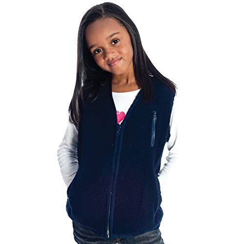 Fun and Function's Weighted Fleece Zippered Vest for Children XX-Large(Ages 13-15) Navy, Helps Kids with Sensory Issues, Autism, ADHD, Mood & Attention, Sensory Over Responding, Travel Issues