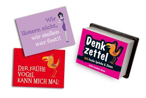 """Klages freche """"Denkzettel"""": Zum Abreißen und Ablachen"""