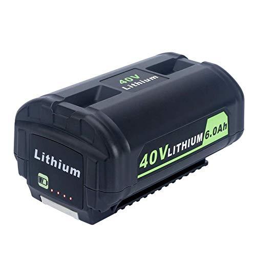 mooderff OP4050A OP4050A lithiumbatterij, 40 V, 6000 mAh, vervanging voor 40 volt Ryobi accu draadloos elektrisch gereedschap OP4015 OP4026 OP40201 OP40261 OP4030 OP4040 OP4050