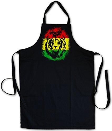 Urban Backwoods Rastafari Lion II Grillschürze Kochschürze