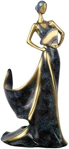 WLVG Beauty Girl Estatua Escultura Adornos para el hogar Estatuilla Antigüedades Coleccionables Artesanía Muebles Estante para Vino Estante para Whisky Estante para Botellas de Vino Escultura prá