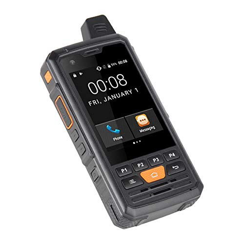 SNOWINSPRING 4G LTE Global Zello Resistente PTT Walkie Talkie Pantalla de Prensa de 2.8 Pulgadas ROM de 8GB Android 6.0 TeléFono Inteligente de Cuatro NúCleos Enchufe de la EU