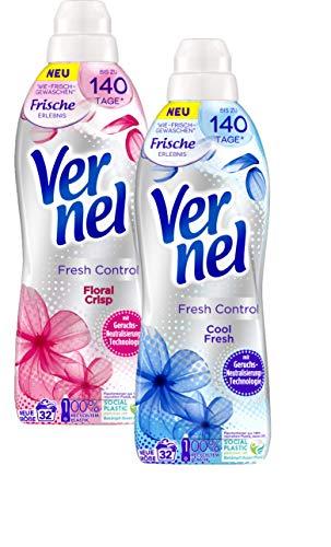 Vernel Fresh Control Weichspüler Doppelpack Cool Fresh & Floral Crisp 2x800ml