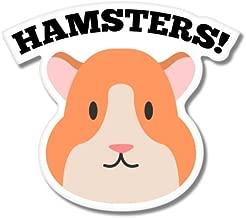 Hamsters! Cute Pet Vinyl Sticker - Car Phone Helmet - SELECT SIZE