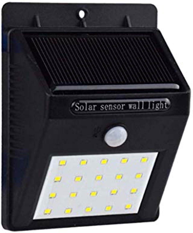 20 LED Solar Sensor Licht, Outdoor Schwarz LED Dusk To Dawn Solar Sicherheitsleuchten Wandleuchte, Yard Park Deck Garten Landschaft Licht Mit 3 Modi