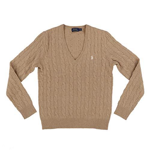 Polo Ralph Lauren Womens Wool Sweater (Small, Tan)