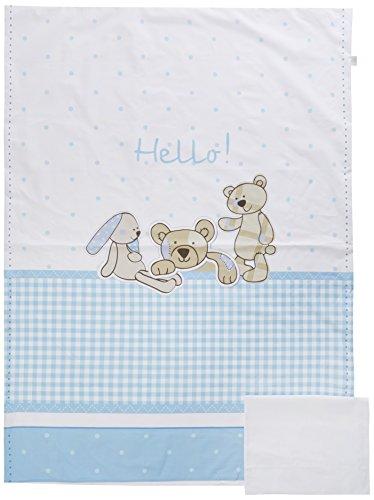 Italbaby Hello Maxi Parure de lit, Bleu clair
