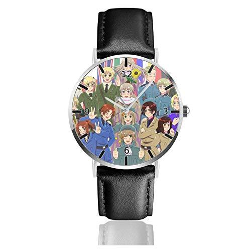 Los niños Miran Reloj Pulsera niño Historieta 3D Impermeable Hetalia Pantalla Redonda 38mm Batería de botón Poder Unisex Watch