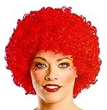 Legisdream Parrucca Pagliaccio di Colore Rosso Idea Travestimento Carnevale Unisex