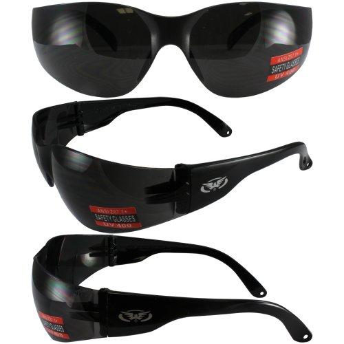 Global Vision Eyewear Rider Safety Glasses, Super Dark Lens