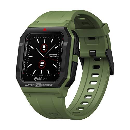 Reloj Inteligente Bluetooth, Reloj Inteligente Zeblaze Ares, podómetro de presión Arterial de sueño de frecuencia cardíaca, teléfono de Soporte con BT 5.0 y ampliamente Compatible con Android 4.4