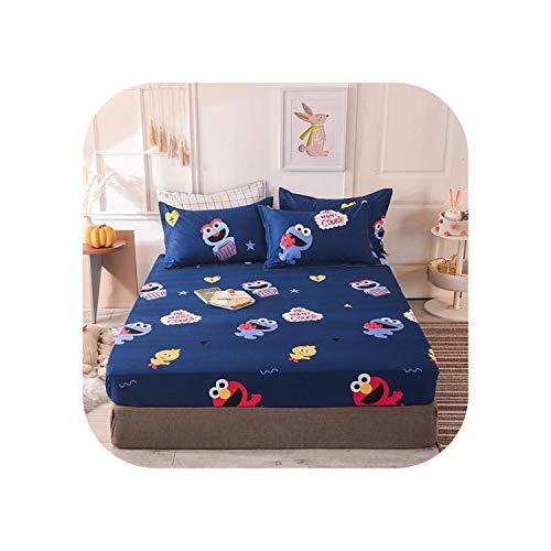 Star Harbor Gemütliche Laken |2020 1 Stück Baumwolldruck Bettmatratze Set mit Vier Ecken und Gummibändern-wanghongya-180X200X25cm