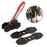 Llave de ajuste de trinquete para reparación de pistón, herramienta universal de prensa, accesorios de mano, pinza de freno de acero automático, duradero (rojo), rojo