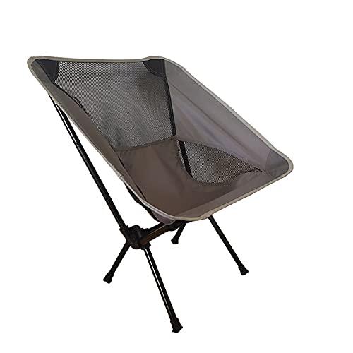 katsuya Silla plegable de camping Moon Silla de playa de pesca con bolsa lateral (gris)