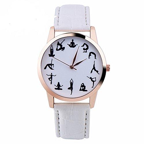 Swallowuk Yoga Uhren, Damen Sportuhren (Weiß)
