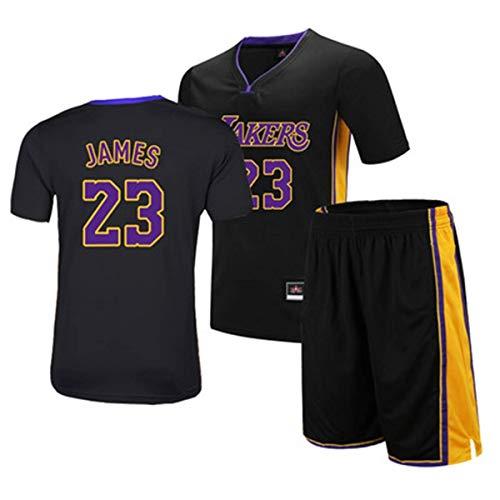 LLSDLS T-Shirt NBA Conjunto de Hombres All-Star Basketball Wear Manga Corta Transpirable Jersey Fan Jersey Conjunto de Sudaderas (S-6XL) Negro-1-XXXXXXL Camiseta (Color : Black-5, Size : Medium)