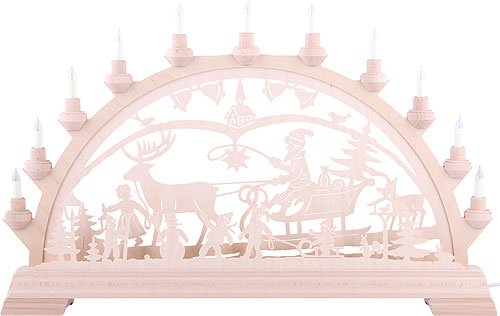 Authentic German Erzgebirge Handcraft Candle Arch - Christmascountry - KWO