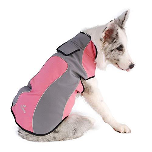 Fosinz Outdoor Waterproof Dog Jacket Dog Coat with Reflective Stripe (L(Neck:19.5