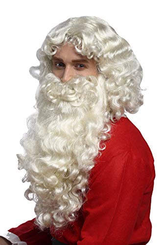 WIG ME UP ® - 46-A + B-ZA613 Peluca y Barba Navidad Papá