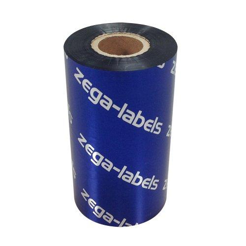 Thermotransfer Farbband schwarz 110 mm x 300 m - zega blue (Wachs Premium) - Farbseite AUSSEN - für Industriedrucker Zebra ZM400/ZM600/ZT220/ZT230/S4M/Z4M/Z6M/XI-Serie mit 1 Zoll Kern 25 mm - für Papieretiketten Bedruckung
