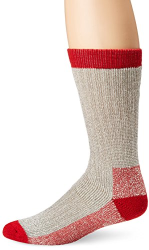 Terramar Superior Warmth Comfort Thermal Wool Boot Socks (Pack of 2), Light Grey Heather, Large/ 9-12