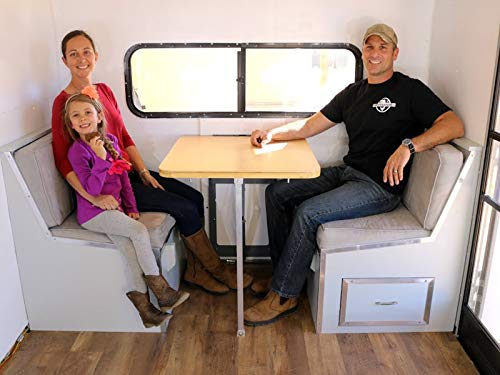 How To Build A Do It Yourself Travel Trailer Dinette, Bed, Cabinets And More Part 6