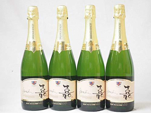4本セット 高畑 嘉スパークリングスウィート マスカットオレンジ 甘口スパークリングワイン 750ml×4本