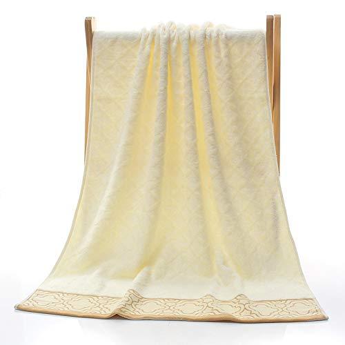 Toallas De Baño,Toallas De Playa,Toallas para Lavarse La Cara70Cm * 140Cm Algodón Puro Sin Deformar Fibra De Bambú Sin Trenzar Blanco