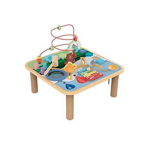 Wood'n'Play - Tavolino Bambini Forest Activity, Tavolo Multiattività Bambini con Animali della Foresta per Imparare Forme e Colori - Giochi Educativi in Legno per Bambini