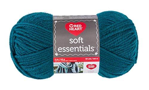 RED HEART Soft Yarn, Essentials Teal
