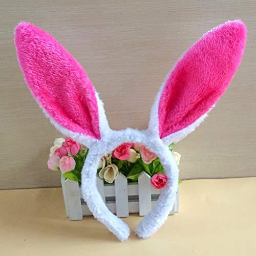 4 diademas de orejas de conejo de peluche con orejas de conejo para disfraz de Pascua, decoración de fiesta de disfraces de niños, regalos de fiesta
