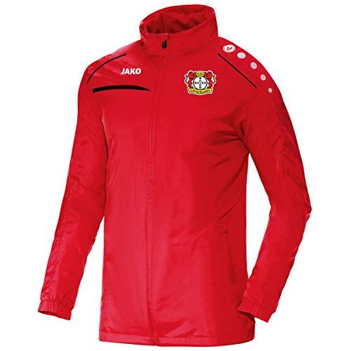 JAKO Herren Prestige (ohne Sponsoren), (Saison 19/20) Bayer 04 Leverkusen Allwetterjacke, rot/Schwarz, 3XL