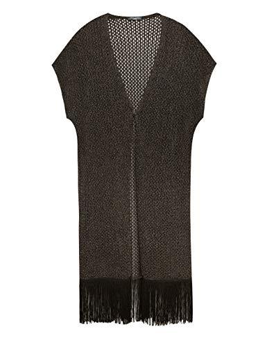 Elena MirΩ : lang vest met franjes (Italian Size)