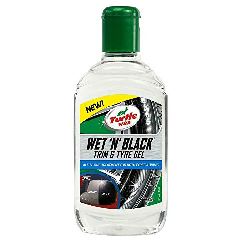 Turtle Wax 53144 Wet & Black Car Trim & Tyre Gel All In One 300ml
