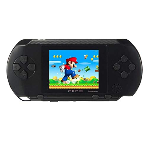 Livoty Playstation Kids Handheld Game Console Portable Gaming System 16 Bit Classic Game Console LCD Game Player (Black)