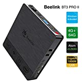 Beelink BT3 Pro II Mini PC Computer Windows 10 4 Go de RAM DDR3 + 64 Go de ROM eMMC Processeur: Intel x5-Z8350 WiFi Double...