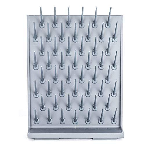 VEVOR Drying Rack 70 x 55.3 x 12.7 cm Laboratory Drying Rack, Polypropylen Material Drying Rack Wall, Graues Regal, Labor-Trockenablaufregal, Geeignet für Medizin, Chemische Industrie