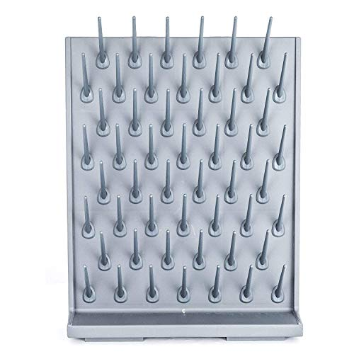 VEVOR Drying Rack 70 x 55.3 x 12.7 cm Laboratory Drying Rack, Polypropylen Material Drying Rack Wall, Graues Regal, Labor-Trockenablaufregal, Geeignet für Medizin, Chemische Industrie